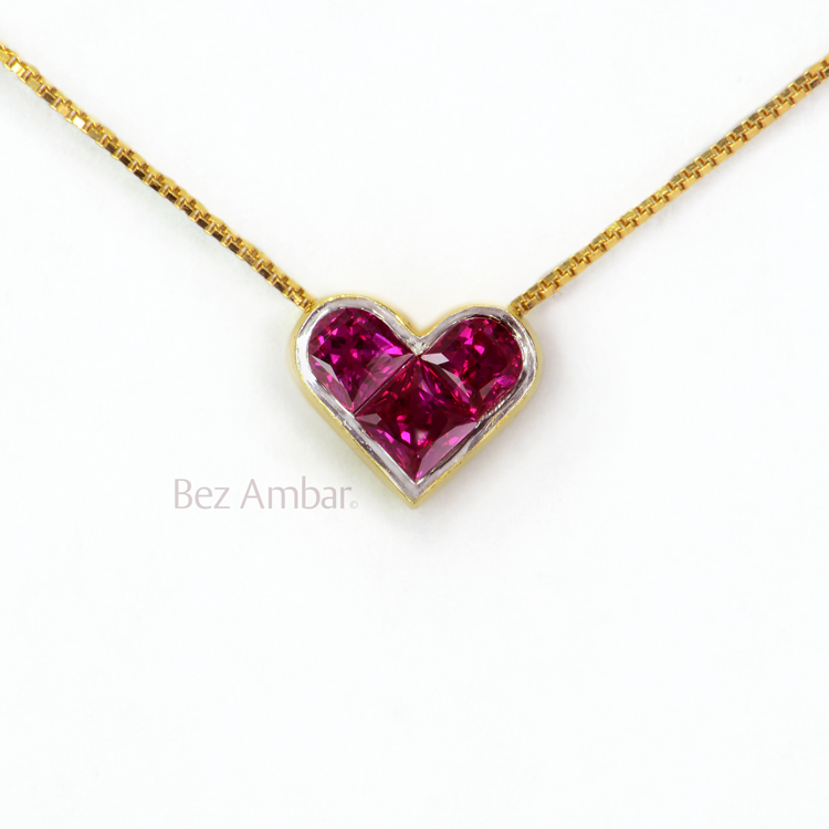 heart cut pendants shaped ruby pendant shop necklaces necklace