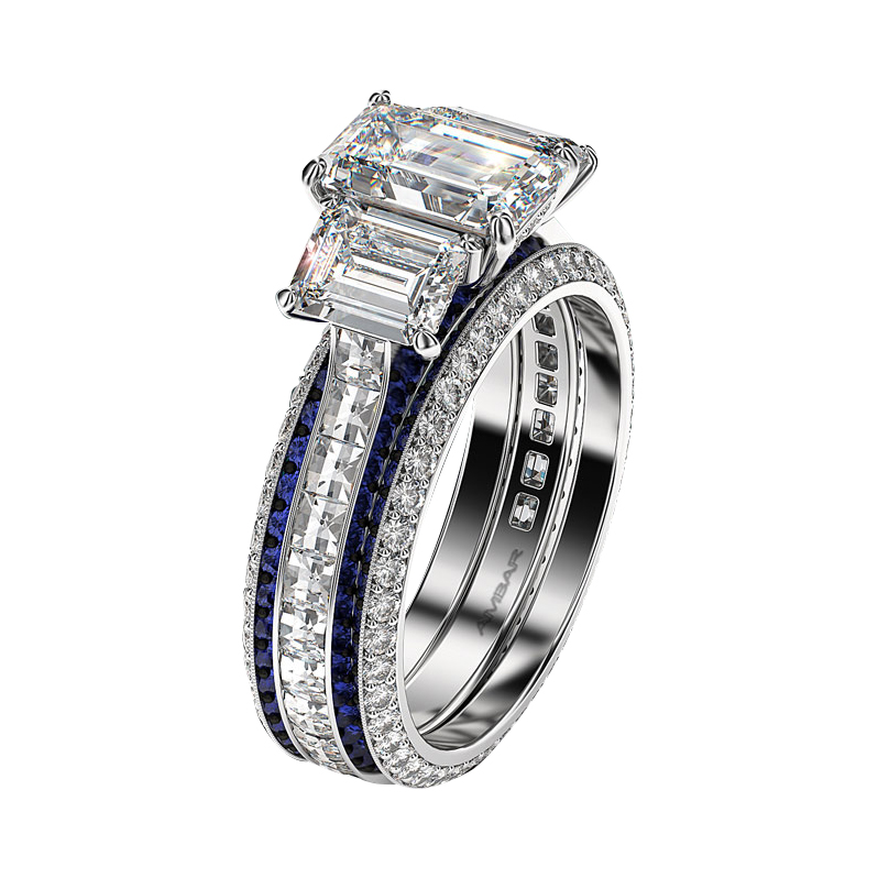 wedding rings ring emerald engagement diamond jewellery jewellers white finnies gold the cut image